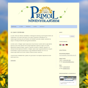 Primoil Növényolajüzem